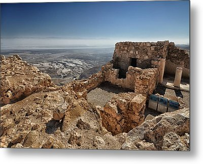 Fortress Of Masada Israel 1 Metal Print by Mark Fuller