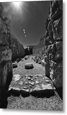 Fortress Of Masada Israel 2 Metal Print by Mark Fuller