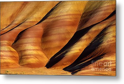 Fossilscape Metal Print by Inge Johnsson