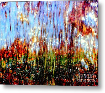 Water Fountain Abstract 3 Metal Print by Ed Weidman