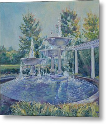 Fountains At Noon Metal Print by Elena Broach