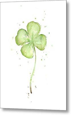 Four Leaf Clover Lucky Charm Metal Print by Olga Shvartsur