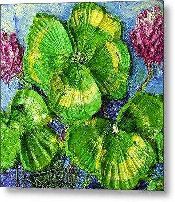 Four Leaf Clovers Metal Print by Paris Wyatt Llanso