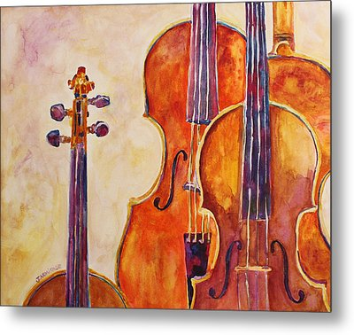 Four Violins Metal Print by Jenny Armitage