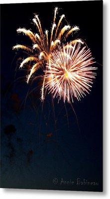 Fourth Of July Fireworks Metal Print by Anne Babineau