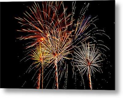 Fourth Of July Fireworks  Metal Print by Saija  Lehtonen