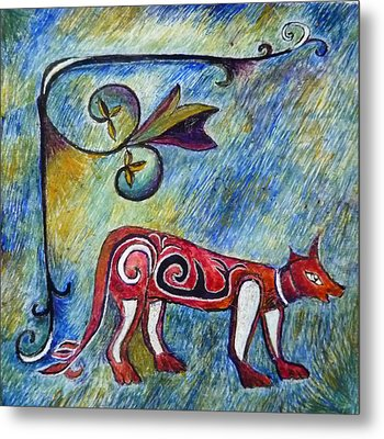 Fox Totem Metal Print by Catherine Meyers