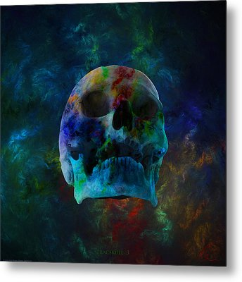 Fracskull 3 Metal Print by Chris Thomas