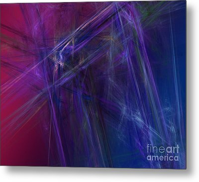 Fractal Abstract Metal Print by Amanda Collins