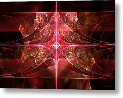 Fractal - Abstract - The Essecence Of Simplicity Metal Print by Mike Savad