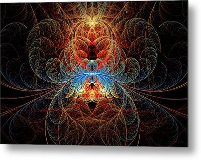 Fractal - Insect - Black Widow Metal Print by Mike Savad