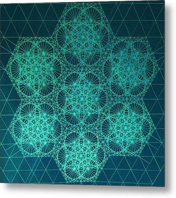 Fractal Interference Metal Print by Jason Padgett
