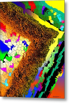 Fractionated Desing Metal Print by Mario Perez