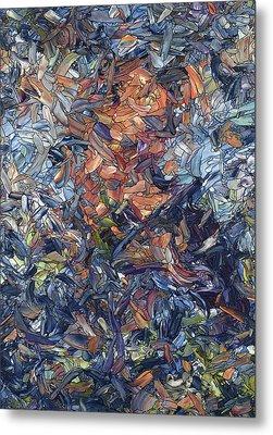 Fragmented Man Metal Print by James W Johnson