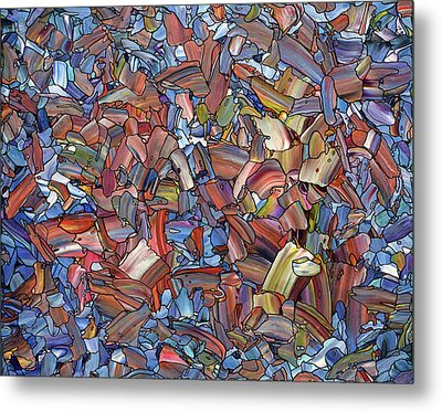 Fragmented Rose Metal Print by James W Johnson