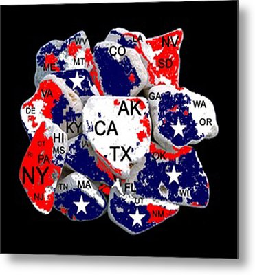 Fragmented States Of The Union Metal Print by Bruce Iorio