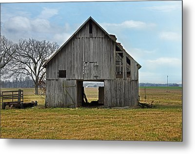 Framed Barn Metal Print by Steven  Michael