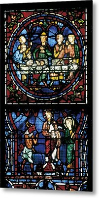 France. Chartres. Notre Dame Cathedral Metal Print by Everett