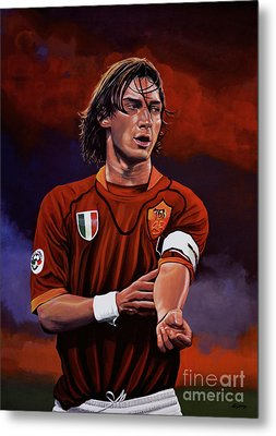 Francesco Totti Metal Print by Paul Meijering