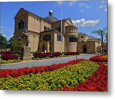Franciscan Monastery In Washington Dc Metal Print by Jean Doepkens Wright