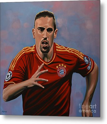 Franck Ribery Metal Print by Paul Meijering