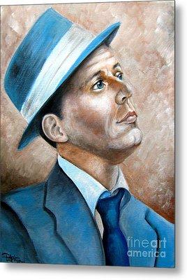 Frank Sinatra Ol Blue Eyes Metal Print by Patrice Torrillo