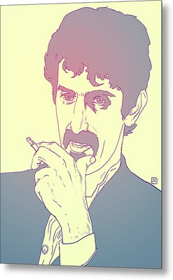 Frank Zappa Metal Print by Giuseppe Cristiano