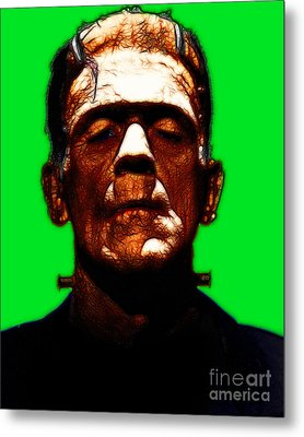 Frankenstein - Green Metal Print by Wingsdomain Art and Photography