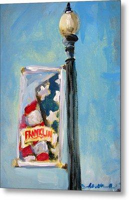 Franklin Banner Metal Print by Susan E Jones