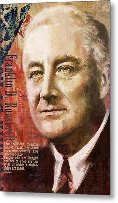 Franklin D. Roosevelt Metal Print by Corporate Art Task Force