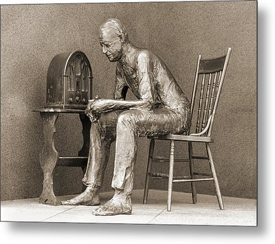 Franklin Delano Roosevelt Memorial - Bits And Pieces 5 Metal Print by Mike McGlothlen