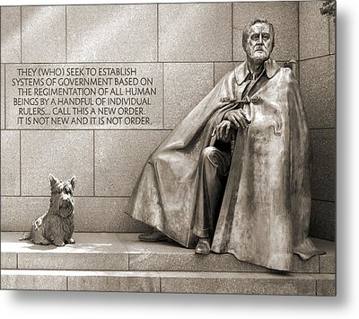 Franklin Delano Roosevelt Memorial - Bits And Pieces 7 Metal Print by Mike McGlothlen