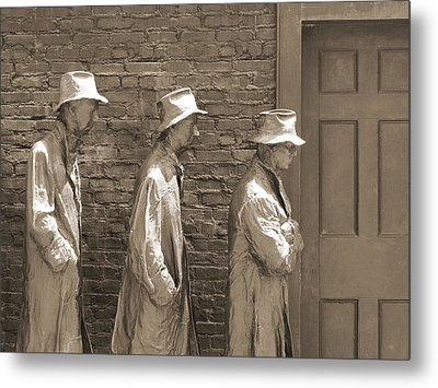Franklin Delano Roosevelt Memorial - Bits And Pieces1 Metal Print by Mike McGlothlen