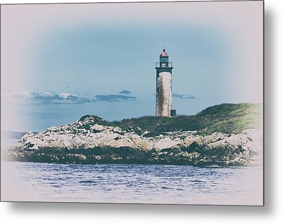 Franklin Island Lighthouse Metal Print by Karol Livote