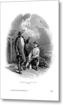 Franklin's Kite Experiment Metal Print by American Philosophical Society