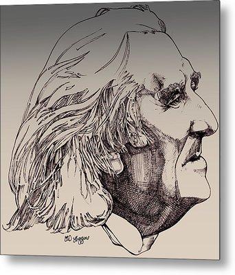 Franz Liszt Metal Print by Derrick Higgins