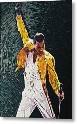 Freddie Mercury Metal Print by Taylan Apukovska