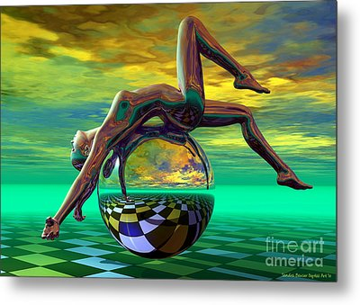 Freedom Of Expression Metal Print by Sandra Bauser Digital Art