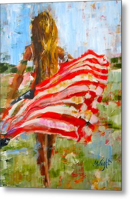 Freedom's Charge Metal Print by Molly Wright