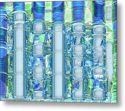 Freeze Warning Metal Print by Wendy J St Christopher