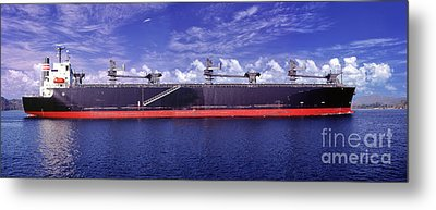 Freighter Going To The Panama Canal Central America Metal Print by David Zanzinger
