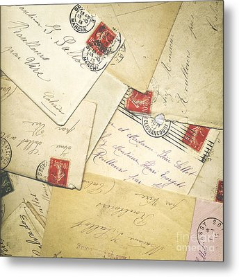 French Correspondence From Ww1 #1 Metal Print by Jan Bickerton