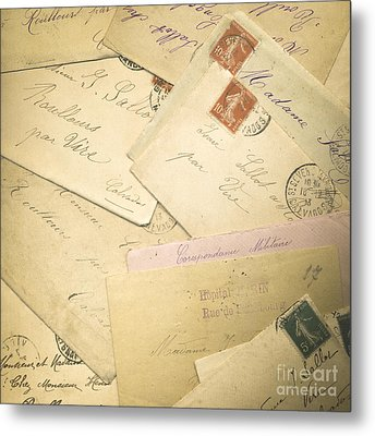 French Correspondence From Ww1 #2 Metal Print by Jan Bickerton