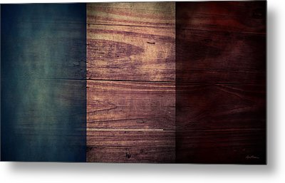 French Flag I Metal Print by April Moen