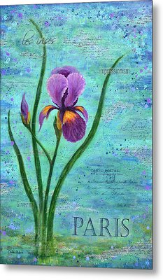 French Iris Metal Print by Carla Parris