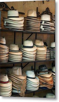 French Market Hats Metal Print by Brenda Bryant