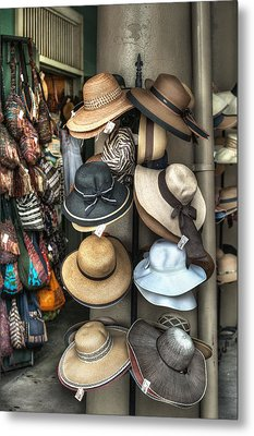 French Market Hats For Sale Metal Print by Brenda Bryant