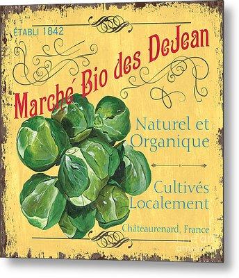French Market Sign 1 Metal Print by Debbie DeWitt