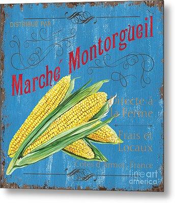 French Market Sign 2 Metal Print by Debbie DeWitt