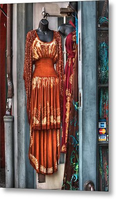 French Quarter Clothing Metal Print by Brenda Bryant
